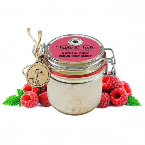Natural Body Scrub Raspberry 85 ml